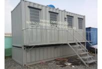 Container Toilet 20 Feet, Lắp Đặt Bể Phốt + Cầu Thang Lan Can