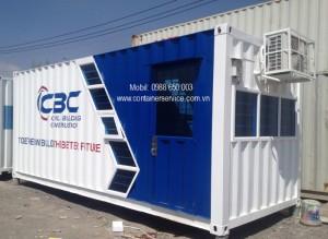 Container Văn Phòng 20 Feet Vẽ Logo, Lắp Kính Màu Cường Lực