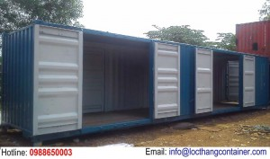 Container Open Side 40 Feet Mở 4 Cửa Hông