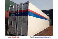 Container Lạnh 40 Feet Sơn Mới Vẽ Logo